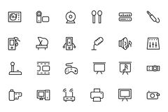 Music Vector Line Icons 4 Stock Photography