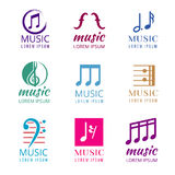 Music vector logos set Royalty Free Stock Images