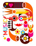 Music - Vector Poster Stock Image
