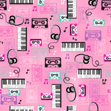 Music Vector Seamless Repeat Pattern Stock Images