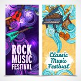 Music vertical banners royalty free illustration
