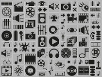Music, video, photo icons Stock Photos