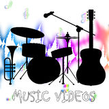 Music Videos Represents Audio Visual And Acoustic Royalty Free Stock Photography