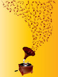Music - vintage gramophone Stock Images