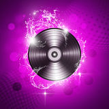 Music Vinyl Background. Funky music sound vibyl background with water splashes Stock Images