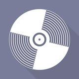 Music vinyl disk icon,flat design Stock Photos