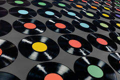 Music - Vinyl records Stock Photos