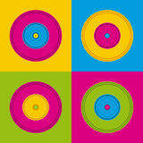 Music vinyls icon Royalty Free Stock Photo