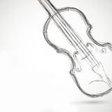 Music Violin design over background Stock Image