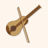 Music violin theme elements vector,eps. Vector illustration file Royalty Free Stock Photos