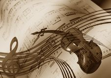 Music, Violin, Treble Clef, Sound Stock Photography