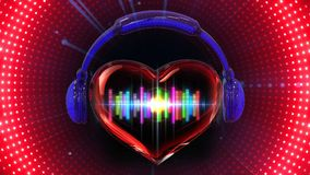 Music VJ loops background stock illustration