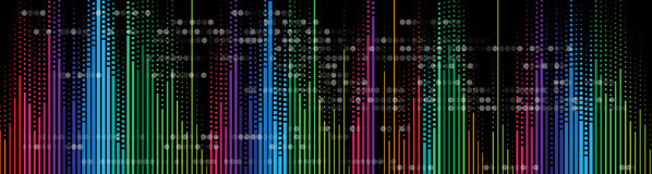 Music volume equalizer computer  technology concept. Abstract music volume equalizer infinity computer  technology concept business background Royalty Free Stock Images