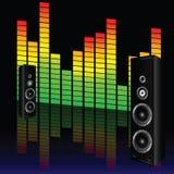 Music volume with speaker illustration Royalty Free Stock Photo