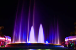 Music water fountain in Epcot Royalty Free Stock Images