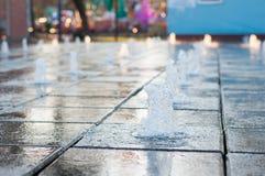 Music water fountain Stock Photo