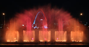 Music, water and light show Stock Photography