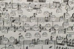 Music waterdrops Royalty Free Stock Photos
