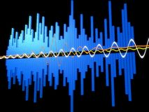 Music wave Stock Image