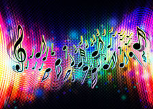 Music wave. Colorful background with music notes Royalty Free Stock Photography