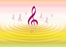 Music wave. Water ripples in gradation background Royalty Free Stock Photo
