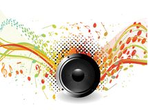 Music wave background Stock Images