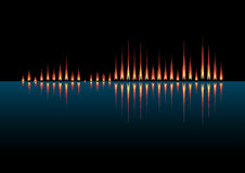 Music wave as coastal fires Royalty Free Stock Photo