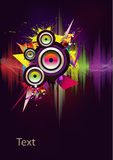 Music wave- vector. Рoster with the wave of music and speakers Stock Images