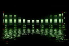 Music waveform Royalty Free Stock Images