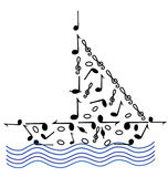 Music on the waves Royalty Free Stock Photo