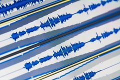 Music waves. Tracks with music waves of sound file Royalty Free Stock Images