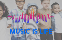 Music Waves Audio Lifestyle Concept Royalty Free Stock Images
