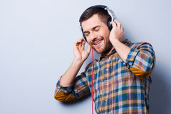 On the music waves. Royalty Free Stock Images