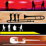 Music Web Banner Templates. A set of Music Web Banner Template illustrations Royalty Free Stock Image