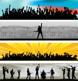 Music Web Banners royalty free illustration