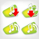 Music web icon. This is file of EPS10 format Stock Image