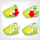 Music web icon Stock Image