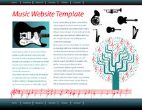 Music website template Royalty Free Stock Image