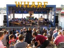 Music at the Wharf in Washington DC stock photo
