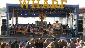 Music at the Wharf at the Waterfront stock footage