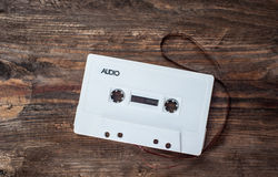 Music white tape Royalty Free Stock Images