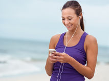 Music will help me keep my pace Stock Image