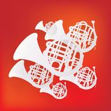 Music wind instruments icon Stock Images