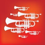 Music wind instruments icon Stock Image