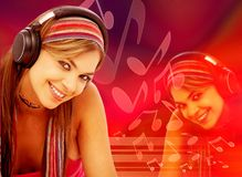Music woman Stock Photography