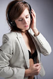 Music woman Royalty Free Stock Photography
