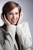 Music woman Royalty Free Stock Photos