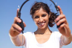 Music woman Royalty Free Stock Photo