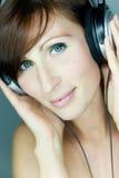 Music woman Royalty Free Stock Photos