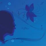Music woman portrait Stock Photo